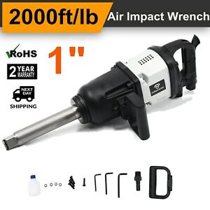 Heavy Duty 1 Drive Air Impact Wrench Tool Gun 1 Inch Long Shank 2000 Ft lbs To