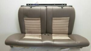 2001 Ford Mustang Cobra Svt Coupe Rear Leather Seat Set Tan And Suede