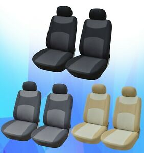 Poly Fabric 2 Front Auto Car Seat Covers For Sedan Suv Truck R160 3000 C