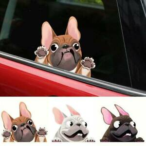 1x 3d Lovely Cartoon Dog Car Styling Window Sticker Decal Decoration Accessories