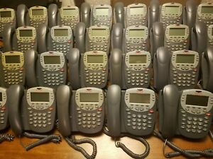 Lot Of 25 Avaya 2410 Business Phones With Handsets Adj Stand Wall Mount Used