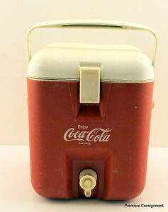 Vintage Coca Cola Igloo One Gallon Water Cooler with Spout and Handle