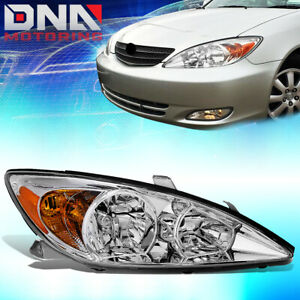 For 2002 2004 Toyota Camry Passenger Right Factory Style Headlight Lamp Chrome