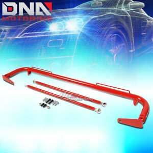 49 Stainless Racing Protection Safety Seat Belt Chassis Harness Bar Rod Red