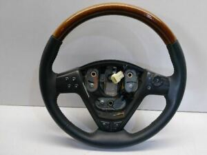 03 04 05 06 07 Cadillac Cts Steering Wheel Wood Grain Leather Oem