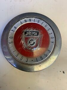 1953 Ford Truck Horn Button 50th Anniversary Medallion Pickup Panel Vintage F100
