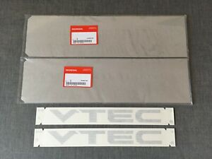 Honda Genuine Vtec Silver Rear Fender Decals Stickers For Civic Sir