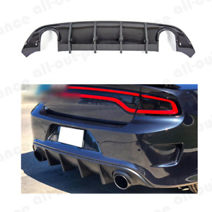 Carbon Fiber Rear Lip Bumper Valance Diffuser For 15 19 Dodge Charger