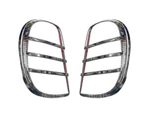 Chrome Tail Lights Cover Trim For Nissan March Micra K13 2010 2011 2012