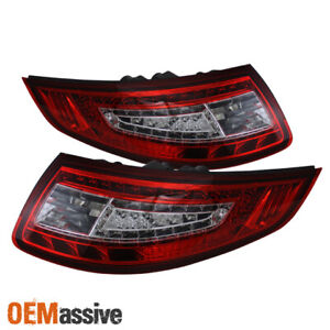 Fits 05 08 Porsche 911 997 Carrera 4 s 4s Red Clear Led Tail Lights Left right