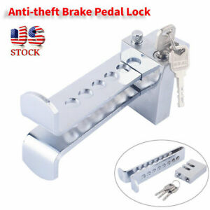 New Brake Pedal Lock Security Car Auto Stainless Steel Clutch Lock Anti Theft Us