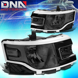 For 2013 2019 Ford Flex Factory Style Headlights Lamps W Led Side Marker Smoked