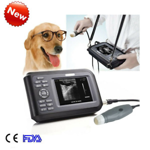 Portable Digtial Veterinary Ultrasound Scanner Machine Small Animal Pregnancy V7