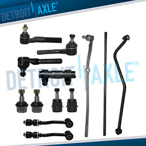 13pc Drag Links Tie Rods Ball Joints Sway Bar End Center Kit For Jeep Cherokee