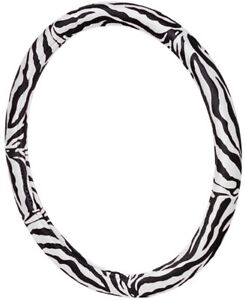 Allison Zebra Print Steering Wheel Cover Ali54 1804blk