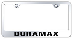 Chevy Duramax Laser Etched Mirrored Stainless Steel License Plate Frame