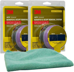 3m Scratch Remover Kit Bundle With Microfiber Cloth 3 Items Mmm39071 2pkb