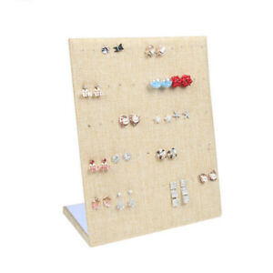 Linen Ramp Jewelry Display Earring Stand Holder Organizer Storage Cases 20 25cm