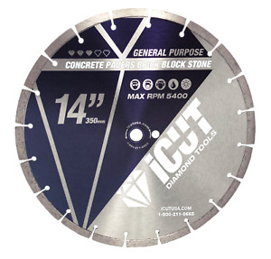 10 Pack 14 Segmented Saw Diamond Blades 10mm For Concrete Block Brick