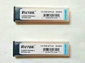 New Victor 00 gpn Cutting Torch Tip Lot Of 2 Propane Lp St2600fc Ca2460