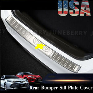For Toyota Camry 18 19 Stainless Steel Outer Rear Bumper Protector Guard Cover