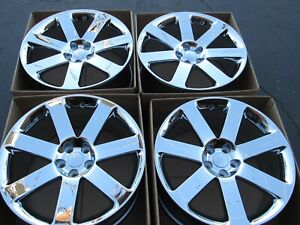 20 Chrysler 300 Srt New Chrome Wheels Rims Set 4 Oem Caps