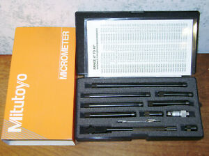 Mitutoyo Tubular Inside Micrometer Set No 139 201 1 1 2 12 Inches Lotd