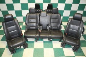 Notes 11 12 Explorer Front Heated Buckets 2nd 3rd Row Bench Seats Black Leather
