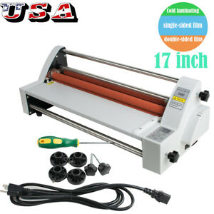 New Hot Pouch Laminating Machine Hot Cold Roll Laminator 17inch Digital From Us