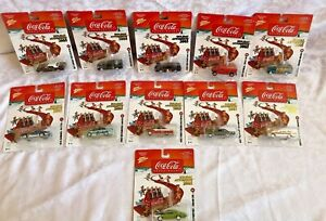 COMPLETE SET Johnny Lightning Coca-Cola 2005 holiday automents 1:64 Cars (M13)