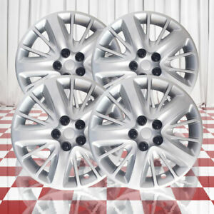 Silver 18in Wheel Cover Hubcaps For Steel Wheels impala Style 4pc Abs