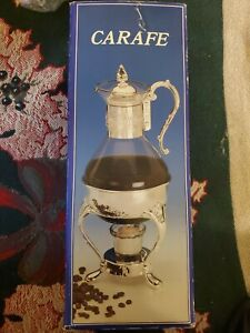 Ten Cups Coffee And Tea Carafe Silver Plated New In Box Never Been Used