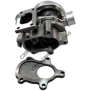 Gt25 T25 Turbo Charger W Wastegate 14psi Water Banjo For Ford Mustang S13