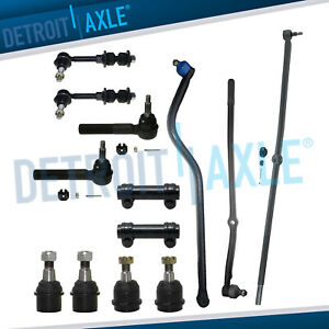 13pc Front Suspension Kit For 2000 2001 2002 Dodge Ram 2500 3500 4x4 Dana 60