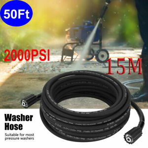 50 Ft 2000 Psi High Pressure Washer Hose M22 Connector Replacement Hose