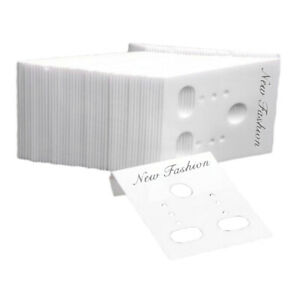 1000x White Earring Display Cards 1 2x1 5 Jewelry Packaging Packing Displays