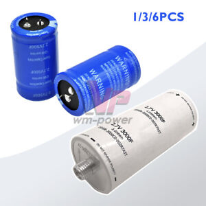 1 3 6pcs Farad Capacitor 2 7v 500f 3000f Low Esr Electrolytic Super Capacitor