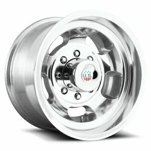 17x10 Us Mags U101 Indy Polished Wheels 8x6 5 25mm Set Of 4 Caps Separate