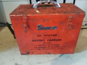 Vintage Snap On All Weather Battery Charger Mt 635 75 Amps 6 Volt 50 Amps 12 Vol