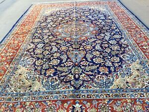 Fine Quality Authentic Large Wool Hand Knotted Handmade Rug Carpet Runner