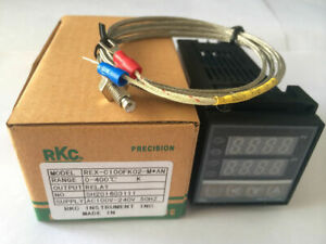 Pid Digital Temperature Controller Rex c100 With K Thermocouple Relay Output Us