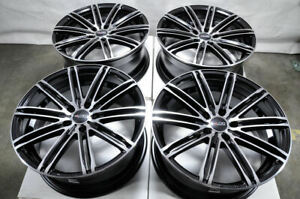 18 Black Wheels Fits Mitsubishi Eclipse Cross Lancer Mazda 3 5 6 Wrx Tsx Rims