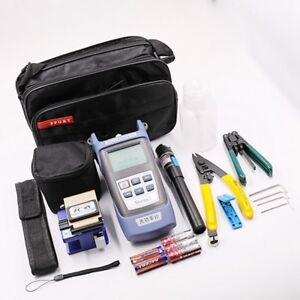 Fiber Optic Ftth Cold welding Kit Cutter Cleaver Optical Power Meter Visual Tool