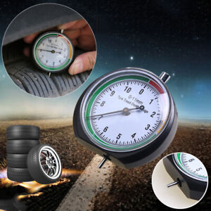 Tire Tyre Pressure Tread Depth Gauge Indicator Round Dial With Pointer