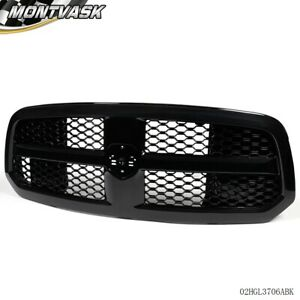 Gloss Black Honeycomb Style Mesh Front Hood Bumper Grill For 2013 2017 Ram 1500