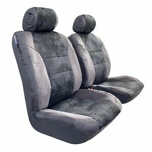 Front Seat Covers Boa Camo Gray Waterproof Canvas Car Interior For Toyota Tacoma