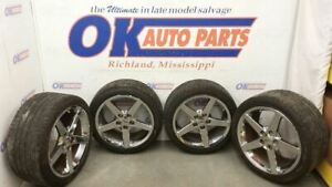 06 08 Corvette 5 Spoke Chrome Wheel Set Qx3 Option With Tires