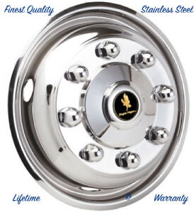 19 5 Hino 165 8 Lug Stainless Steel Wheel Simulator One Front Rim Hubcap Cover