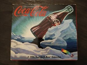 Coca-Cola Year-In-A-Box Calendar Full Color Year 2006 Collectible