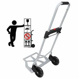 220lbs Cart Folding Dolly Collapsible Trolley Push Hand Truck Moving Warehouse